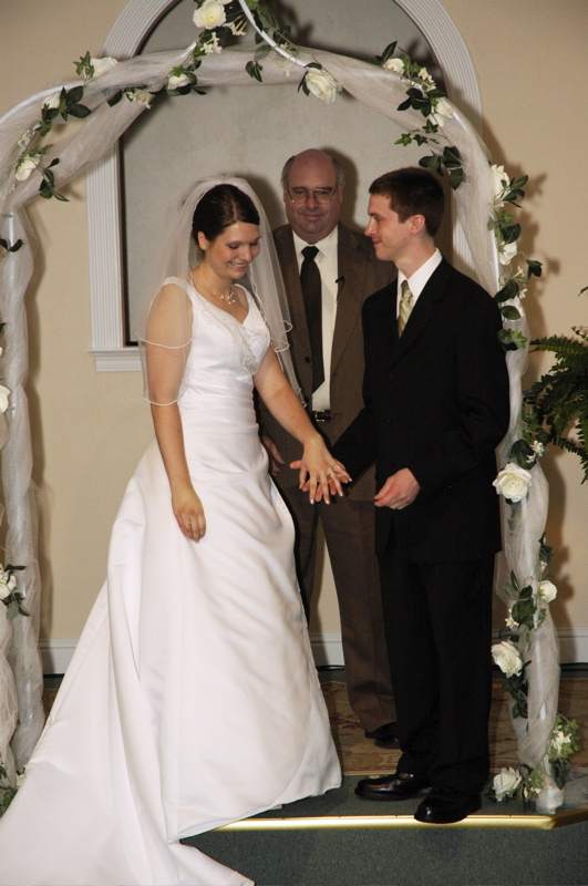 <p>Aaron and Kari right after they were married</p>