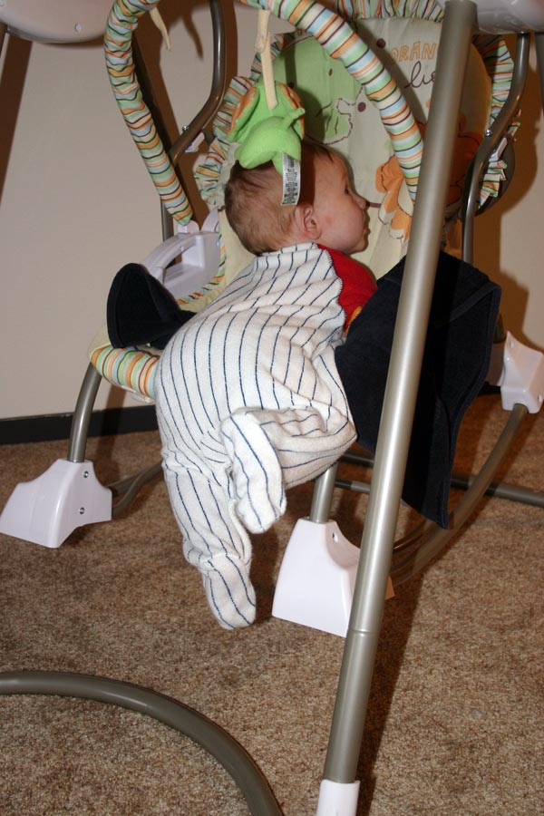<p>Christian&#8212;rolled over in his swing</p>