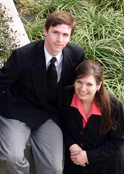 <p>Aaron and Kari, back when they were engaged</p>
