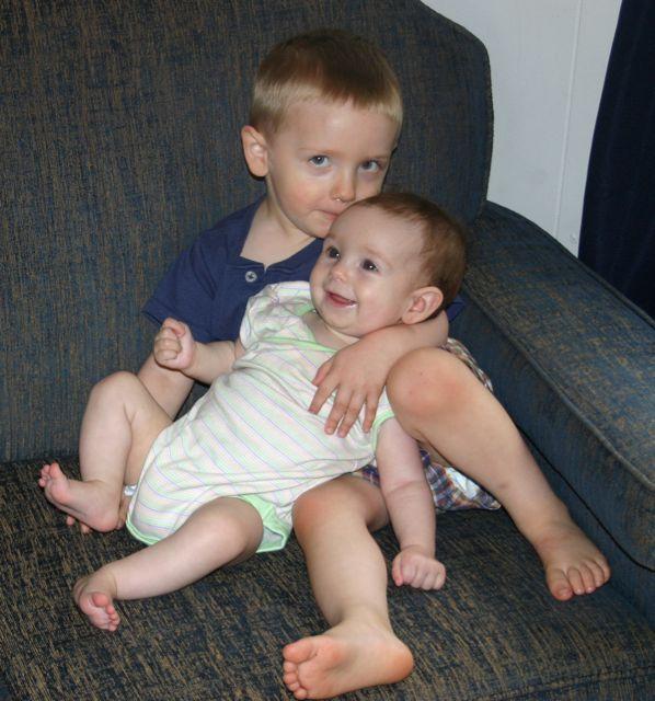 Christian holding Abby