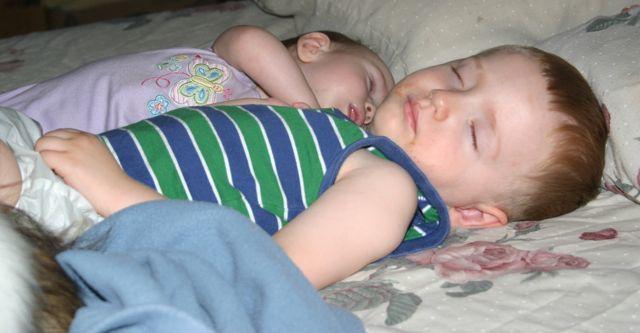 Christian and Abby sleeping